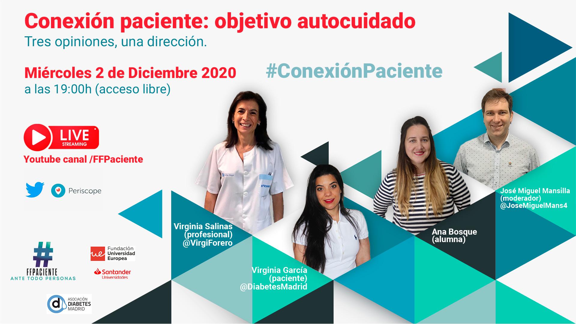 Te invitamos a»Conexión Paciente» un encuentro con un objetivo, EL AUTOCUIDADO.