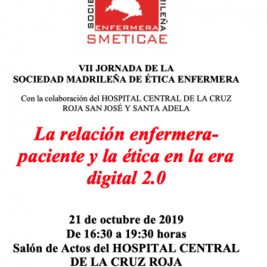 VII Jornada de la Sociedad Madrileña de Ética Enfermera. SMETICAE