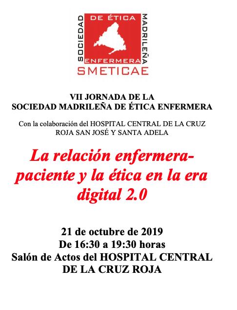 VII Jornada de la Sociedad Madrileña de Ética Enfermera. SMETICA