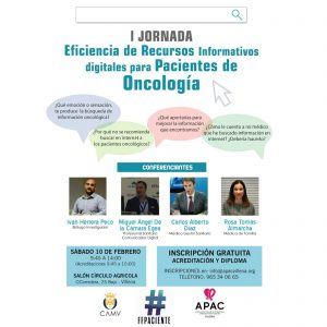 I Jornada Eficiencia de Recursos Informativos Digitales para Pacientes de Oncología.