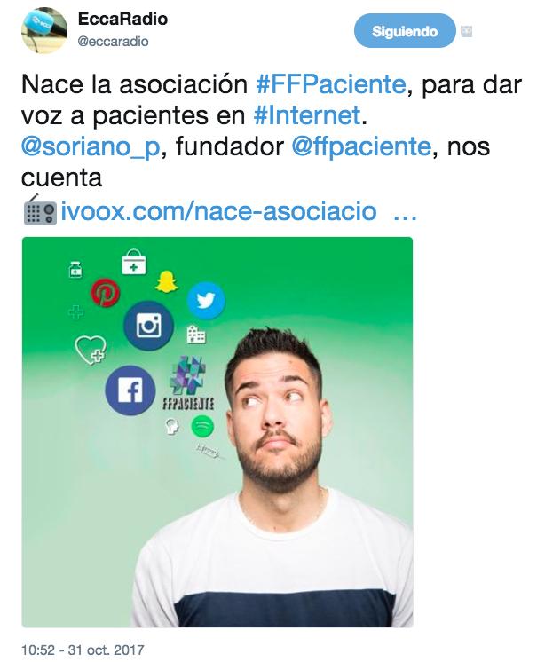 #FFPaciente en la emisora cultural de Canarias